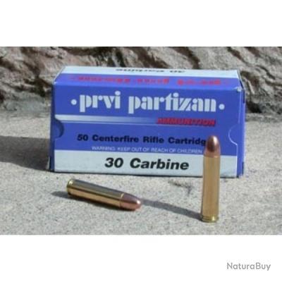 1 000 CARTOUCHES PARTIZAN CAL. .30 M1 110-GRS FMJ RN PROMO PARTIZAN!