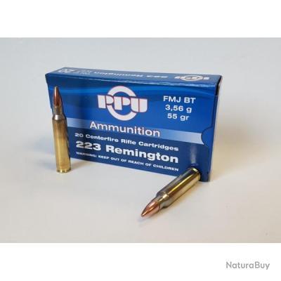 1 000 Munitions Partizan 223 REM 55GRS FMJ BT