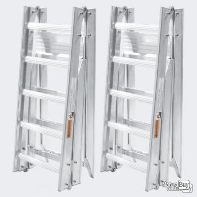 2x rampe de chargement pliable en alu 199 cm avec charge max de 540 kg