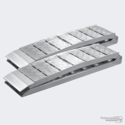 2x rampe de chargement pliable en aluminium de 228 cm avec charge max de 1360 kg pour moto, quad, ou