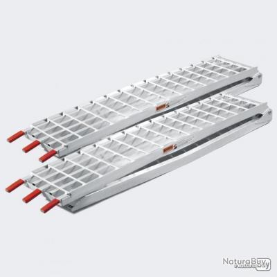 2x rampe de chargement pliable en aluminium de 310 cm avec charge max de 1080 kg pour moto, quad,sco