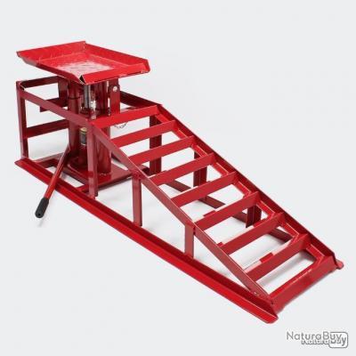 2 x Rampe de levage hydrauliques réglables en hauteur avec charge max de 2000 kg par rampe