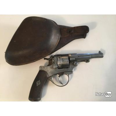 Revolver modèle 1873 manufacture d'armes de st etienne avec étui jambon