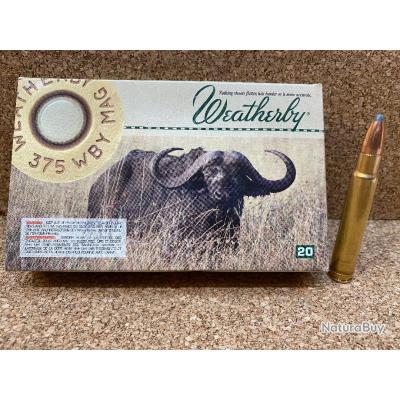 1 Boite 375 Weatherby Magnum 300 grains Nosler Partition, DESTOCKAGE WBY !