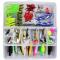 petites annonces chasse pêche : Vicloon Leurres de Peche Kit 120pcs - Spinnerbaits Plastique vers Minnow Popper