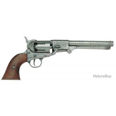 REVOLVER MARINE USA 1851 ARGENT ET BOIS METAL AVEC GACHETTE - P1083G