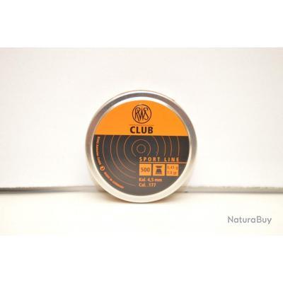 1 boite de 500 plombs RWS club