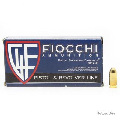 Cartouches Fiocchi Cal. 380 Auto FMJ 95 gr x 500
