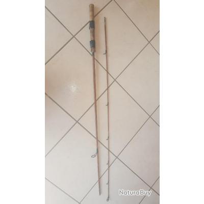 Canne à truite en bambou refendu