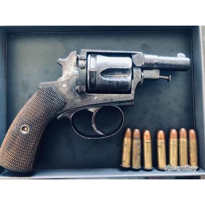 Revolver L'Agent  Saint-Étienne LAMURE & GIDROL 8 mm 92