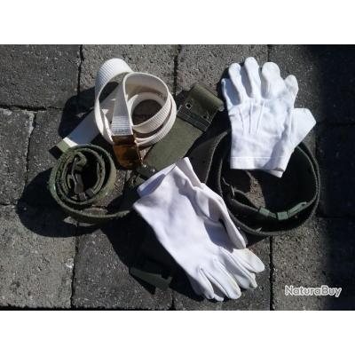 ceintures  gants militaire