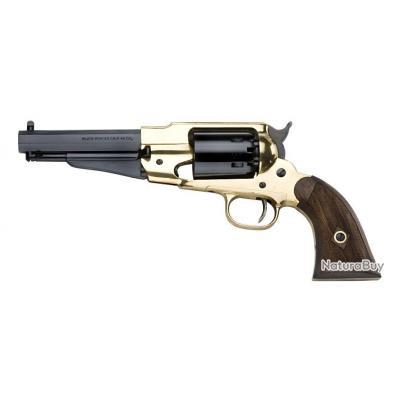 Revolver Pietta 1858 Remington Laiton Sheriff Calibre 44 Crosse Quadrillée