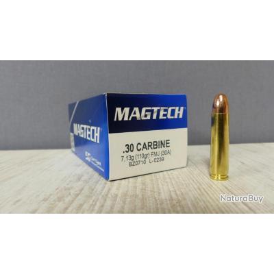 50 Munitions Magtech / .30 Carabine / Boite de 50 /( pour USM1 )