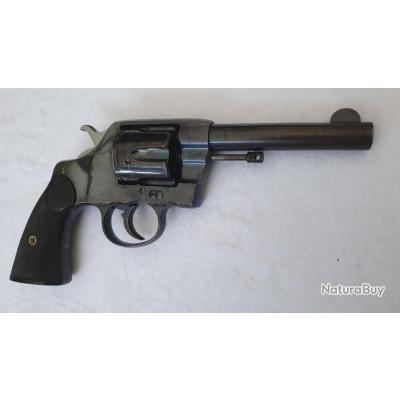Colt 38lc Civile Modèle 1895 Bronzage Bleu miroir canon 4 .1/5 pouces .an 1904 ! A saisir !