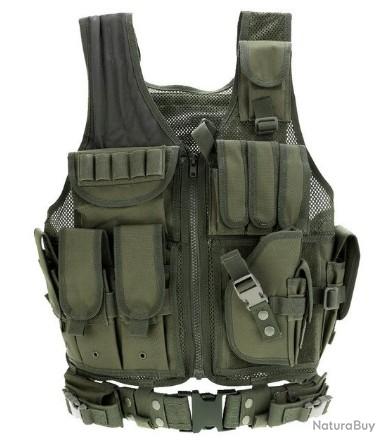 Arm/ée Vert Gilet De Combat Tactique Chasse en Plein Air Wargame Protecteur Porteur Gilet Airsoft Gilet Field