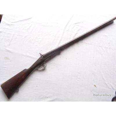 73N ) fusil a broches a platines  cal 16 ( les 2 chiens cassés )
