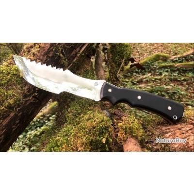 Départ 1€ Couteau de survie bushcraft Tracker artisanal par Thierry Droziere (Couteaux Trèfle)