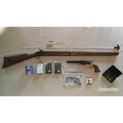 Pack Défense-Chasse poudre noire - Fusil + Colt Catégorie D