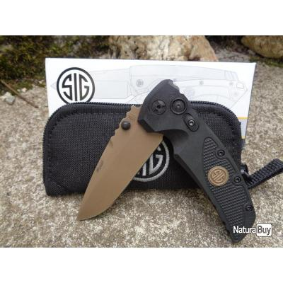 Couteau SIG Sauer EX-01 SIG Emperor Scorpion Lame 154CM Drop Point Manche G10 Made USA SIG36170