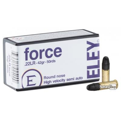 50 Cartouches ELEY 22 lr Force