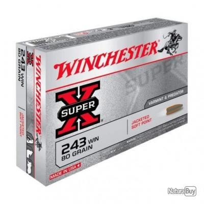 Balles Winchester Power Point - Cal. 243 Win. - 80