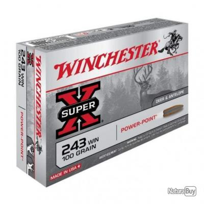 Balles Winchester Power Point - Cal. 243 Win. - 100