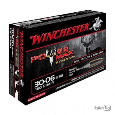 Balles Winchester Power Max Bonded - Cal. 30-06 Springfield - 180