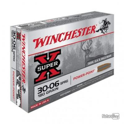 Balles Winchester Power Point - Cal. 30-06 Springfield - 180