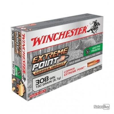 Balles Winchester Extreme Point Lead Free - Cal. 308 Win. - 150