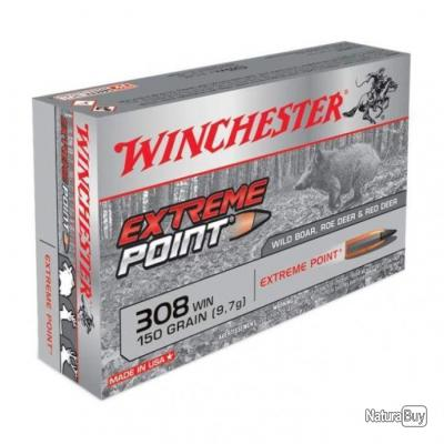 Balles Winchester Extreme Point - Cal. 308 Win. - 150
