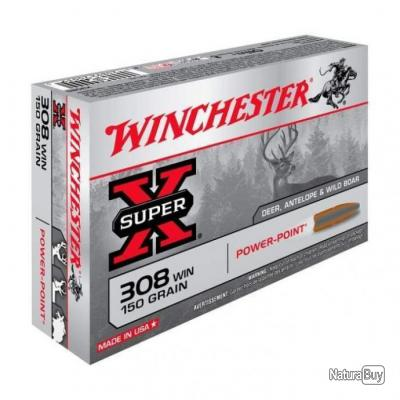 Balles Winchester Power Point - Cal. 308 Win - 150