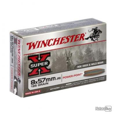 Balles Winchester Power Point 8x57 JRS - 195
