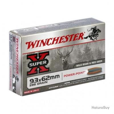 Balles Winchester Power Point - Cal. 9.3x62 - 286