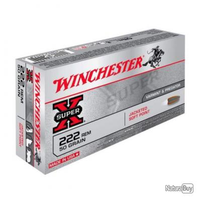 Balles Winchester Power Point 222 Rem. - 50