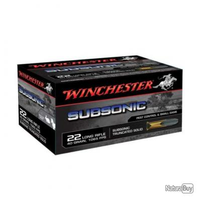 Balles Winchester Subsonic 22LR - 40