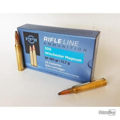 20 Cartouches Partizan PPU Cal.300 Winchester Magnum 180gr SP