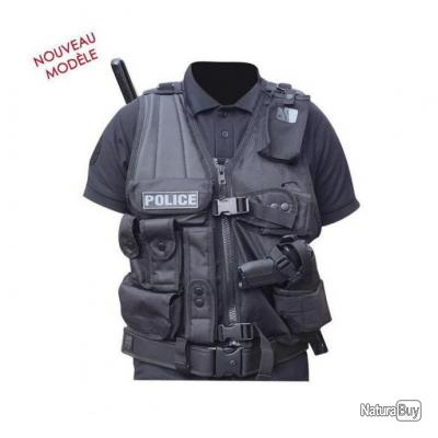 Gilet d'intervention Force Intervention T Patrol Equipement Noir Gaucher