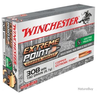Munitions Winchester Cal.308win Extreme Point copper Impact 9.72g 150gr PAR 20