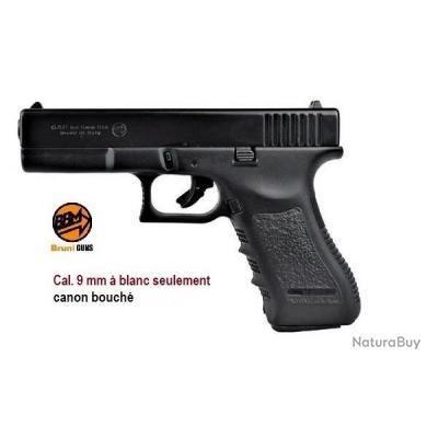 Pistolet Gap, réplique du Glock 17 Cal 9 mm à blanc uniquement