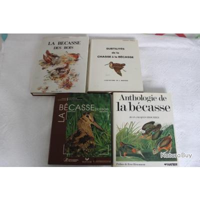 Lot 4 ouvrages de référence sur bécasse