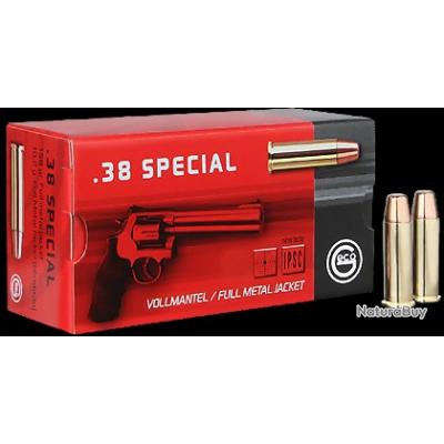 1000 Cartouches Geco calibre. 38 spécial 158 grains FMJ