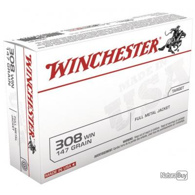 BTE 20 CART. WINCHESTER CAL. .308 WIN FMJ