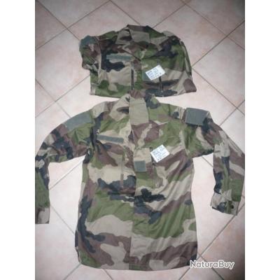 2 vestes de treillis F2 camouflage centre europe / taille 88M / neuves / Legion