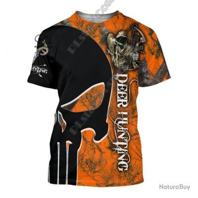 Tee-shirt Hommes femmes collection Deer Hunting Cerf N°2