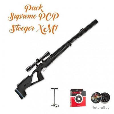 Pack Suprême Carabine à plomb PCP Stoeger XM1 S4 Suppressor + accessoires - Cal. 4.5