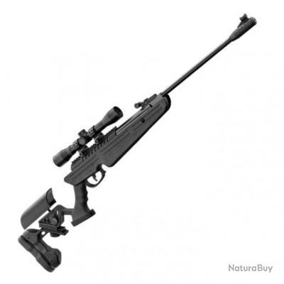 Pack Carabine à plomb BO Manufacture Quantico Noir + Lunette Rti 4x32 - Cal. 4,5 - 19,9 Joules