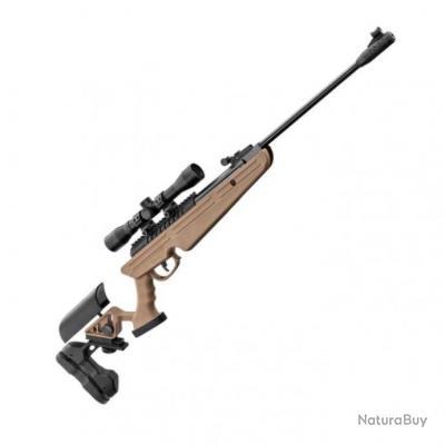 Pack Carabine à plomb BO Manufacture Quantico Tan + Lunette Rti 4x32 - Cal. 4,5 - 19,9 Joules