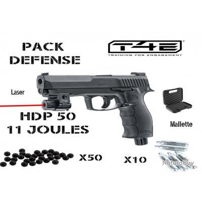 Pack HDP 50 +laser + 50 billes, 10 capsules+ mallette