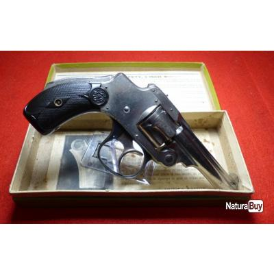 REVOLVER SMITH WESSON SAFETY 1er Mod. CAL .32  + BOÎTE