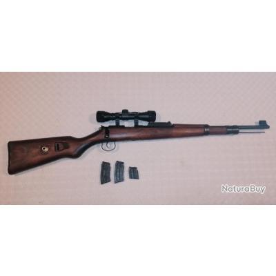 Norinco JW25 (Mauser 98k) avec 3 chargeurs et optique 4x32